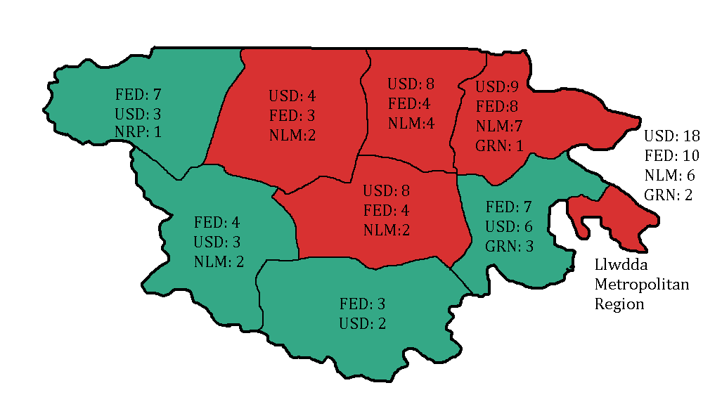 Map of Proportional Seats